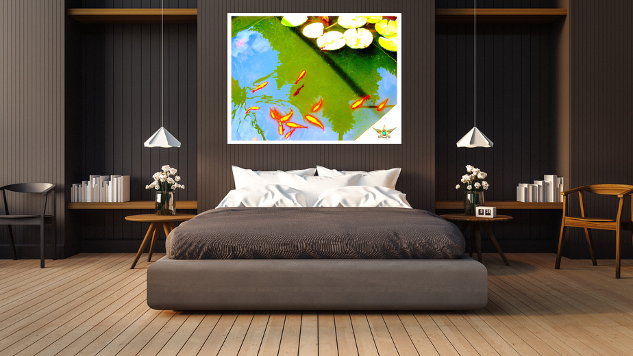 Sleeping Room, Gold Fishes, Von Werden Art