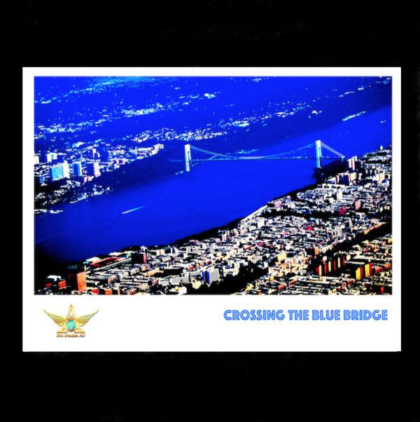 Crossing the Blue Bridge (Illustration)